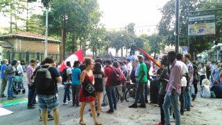 イタリア、シチリア島、パレルモでポピュリズム集会とデモ