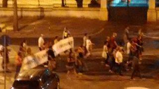 イタリア、シチリア島のポピュリズムデモの写真