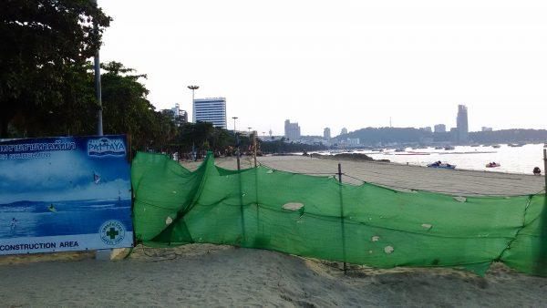 パタヤビーチ工事風景