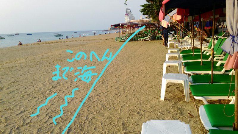 砂浜拡張工事完了後のビーチ