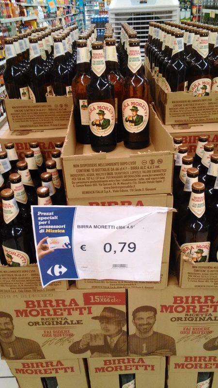 シチリア島のビール安売り