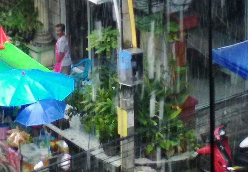 パタヤの大雨