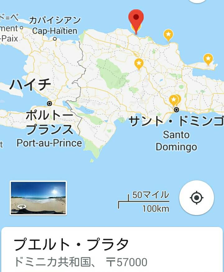 ドミニカ共和国の地図