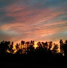夕陽のテラスからの夕陽s【カブとタイ】www.kabutotai.net