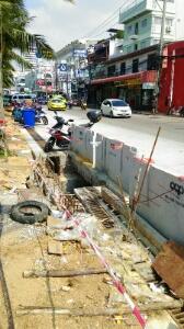 パタヤビーチの下水工事
