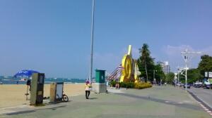 セントラルパタヤ通り付近のビーチ