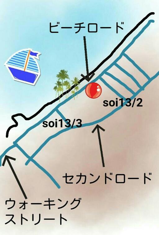 パタヤビーチのフードランドの地図:kabutotai.net