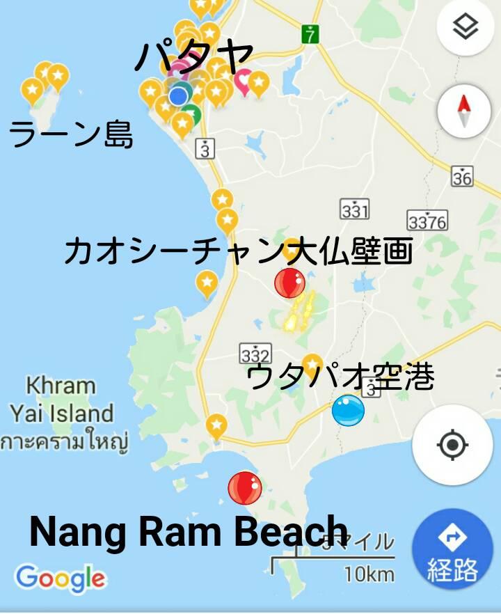 パタヤ~サッタヒーブの地図【カブとタイ】kabutotai.net