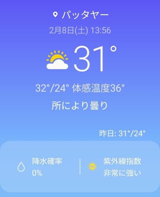 2月のパタヤは涼しいkabutotai.net