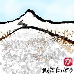 凍てつく発寒川:kabutotai.net
