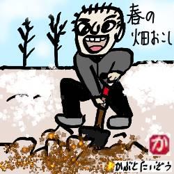 春の畑起し:kabutotai.net