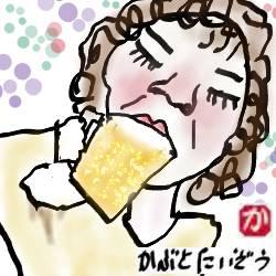 ガストでモーニングを食べてたら、となりに朝からビールを飲んでいるオバサンがいた