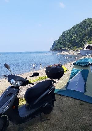 積丹方面へのバイク旅とキャンプ
