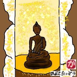 我が家の仏壇に安置されているのは、パタヤビーチで20バーツで買った仏