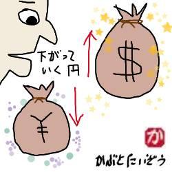 日本円の力が弱くなってきている、だから米国株をすすめる